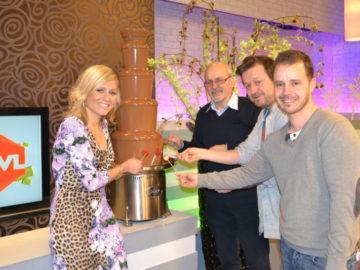 Onze grote chocoladefontein op Studio TVL in Limburg