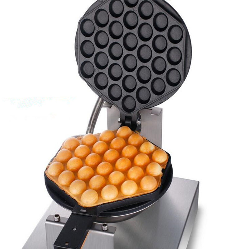 Bubbel wafelijzer wafel