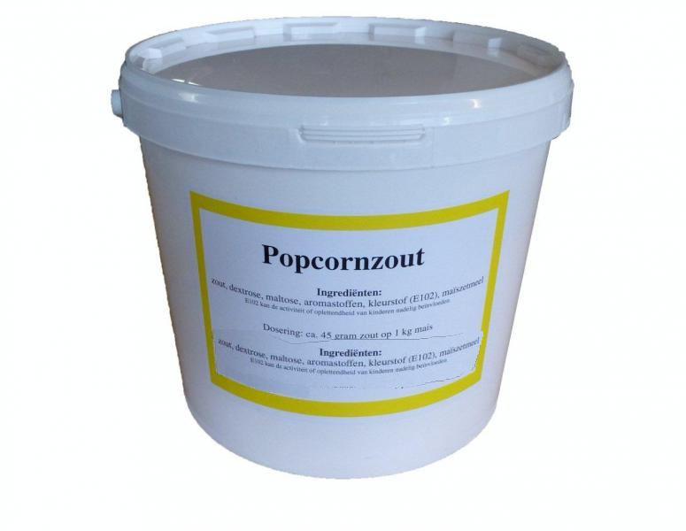 popcorn zout 10 kg